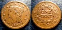 Us Coins - LARGE CENT 1851 VF-20