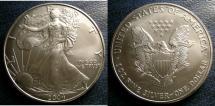 Us Coins - SILVER EAGLE 2004  BU/UNC; .999 SILVER, 1 OZ. ASW