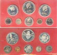 World Coins - Cayman Islands 1972 (8 pc.) Proof Set w/box, $1, $2, $5, coins .925 Silver