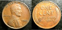 Us Coins - Lincoln Cent 1933  VF-20