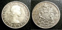 World Coins - Canada 50 Cents 1959-1966, .800 Silver