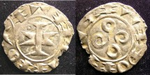 World Coins - MAGUELONNE,  Early French Feudal 11-13th C. Denier Counts & Bishops EF, Chipped flan