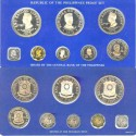 World Coins - Philippines  1975 (8 pc.) Proof Set in card, 50 Piso, .925 Silver, 25 Piso .500 Silver