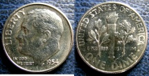 USA ROOSEVELT DIME 1954 PROOF 63