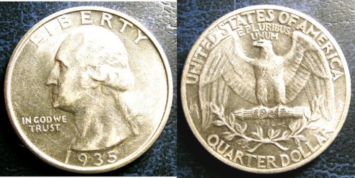 US Coins - WASHINGTON QUARTER 1935 MS-63