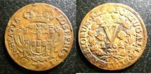 World Coins - Portugal  5 Reis 1764  VF