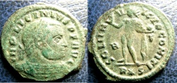 Ancient Coins - ROMAN IMPERIAL 308-324 AD AE3 LICINIUS, RV SOL STD LEFT HLDING GLOBE VF