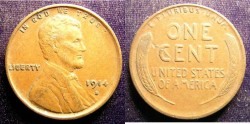 Us Coins - Lincoln Cent 1914-S VF, Key Date