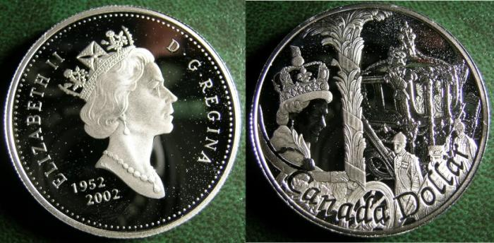 World Coins - CANADA 2002 SILVER JUBILEE COIN STERLING PROOF DOLLAR, .925 SILVER