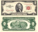 Us Coins - United States Note $2.00 Dollars 1953-B  EF, Serial numbers will very as I have a few of these notes.