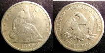 Us Coins - Seated Liberty 1/2 Dollar 1859-O VG-10