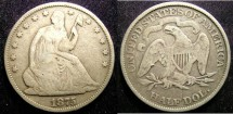 Us Coins - Seated Liberty 1/2 Dollar 1875 VG-8