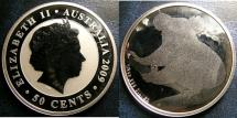 World Coins - AUSTRALIA 50 CENTS 2009 KOWALA 1/2 OUNCE SILVER COIN