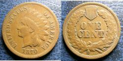 Us Coins - INDIAN CENT 1870 F-12
