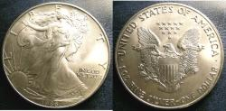 Us Coins - SILVER EAGLE 1986 BU/UNC; .999 SILVER, 1 OZ.