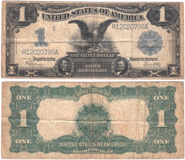US Coins - SILVER CERTIFICATE 1899 BLACK EAGLE FR#226A-229 VG
