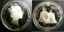 World Coins - BRITISH VIRGIN ISLANDS TWENTY DOLLARS 1985 BELLS  PROOF,.925 SILVER