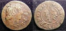 World Coins - France Dombes  Denier Tournois 1616 Gaston A.VF, weak date