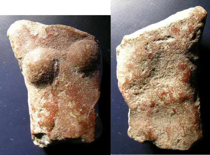Ancient Coins - Body of Woman, pre Columbian, stone carving