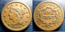 Us Coins - LARGE CENT 1846 EF-40