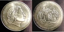 World Coins - Netherlands Antillies 25 Guilden 1973 Bu/UNc; .925 Silver