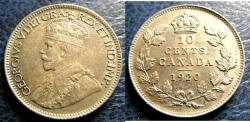 World Coins - CANADA TEN CENTS 1920 EF