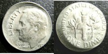 Us Coins - Roosevelt Dime 1979? Off Center Striking
