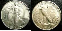 Us Coins - Walking Liberty 1/2 Dollar 1942  MS-64, .900 Silver