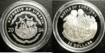 World Coins - Liberia  $20.00 Dollars 2004 Battle of Yorktown Proof, .925 Silver