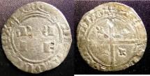 World Coins - TOURNAI, Seignouries de, Feudal France- 1598-1621 Albert et Isabelle 1/2 Gros Cuivre Cr. F+