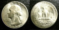 Us Coins - Washington Quarter 1954-S  MS-65