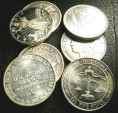Us Coins - Silver Rounds, Bars, Etc.  1 Troy Ounce, .999 Silver
