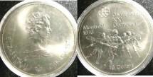 World Coins - Canada $10.00 1974 Lacrosse Bu/Unc; .925 Silver