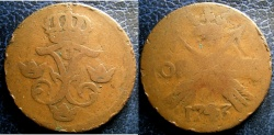 World Coins - SWEDEN 1743 ORE KM#416.6 VG