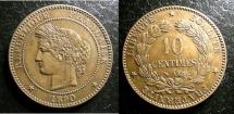 World Coins - FRANCE 10 CENTIMES 1890-A KM#815.1 AU/UNC;