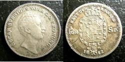 World Coins - Sweden 1/16 Riksdaler 1852-AG  EF
