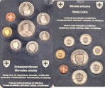 World Coins - Switzerland 1981 (7 pc) Proof Set, Original Case