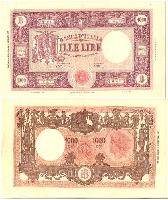 World Coins - Italy 1000 Lire 1943-1947 PCGS EF 40 PPQ