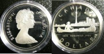 World Coins - Dollar 1984 Toronto Proof 65, .500 Silver