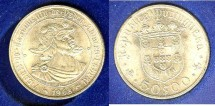 World Coins - Portugal  50 Escudos 1968 Bu/Unc; .650 Silver