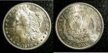 Us Coins - MORGAN DOLLAR 1879-S  MS-63, .900 SILVER