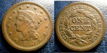Us Coins - LARGE CENT 1853 VF-20