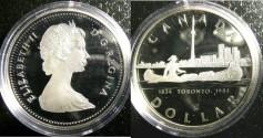 World Coins - Dollar 1984 Toronto Proof 65, .500 Silver