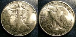 Us Coins - WALKING LIBERTY 1/2 DOLLAR 1944 MS-63