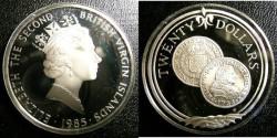 World Coins - BRITISH VIRGIN ISLANDS TWENTY DOLLARS 1985 GOLD ESCUDO,  PROOF,.925 SILVER