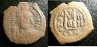 Ancient Coins - Maurice Tiberius AE 29  Follis