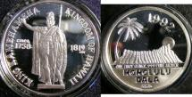 Us Coins - HAWAII 1992 HONOLULU DALA, .999 SILVER W/BOX & COA