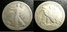 Us Coins - Walking Liberty 1/2 Dollar 1920  G-4, .900 Silver