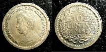 World Coins - Netherlands 10 Cents 1918  EF