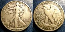Us Coins - WALKING LIBERTY 1/2 DOLLAR 1928-S VF-20